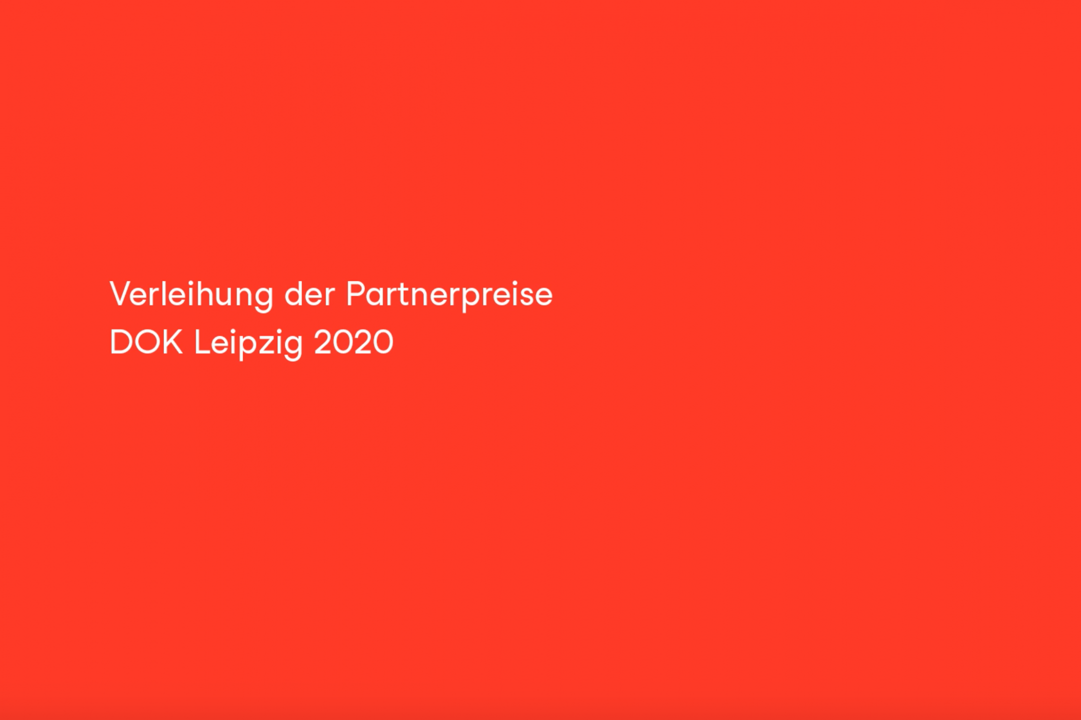 "Red screen with white letters saying ""Partnership Awards 2020"""