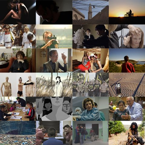 Collage with filmstills of all selected co-pro market projects